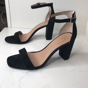 INC black Lexini 2 piece block heel sandals size 10